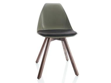 Sedia su trespolo con cuscino integrato X WOOD SOFT