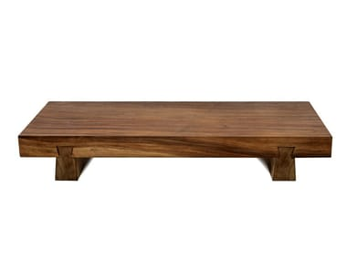 Low solid wood garden side table SUAR | Low coffee table