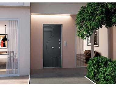 Safety door with electronic lock OPENTECH