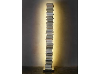 Freestanding bookcase with built-in lights PTOLOMEO LUCE | Bookcase