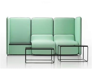 Modular high-back sofa BUNKER | High-back sofa