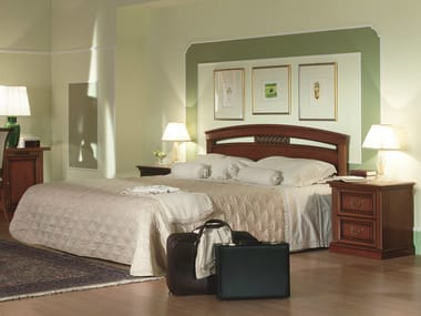 Cherry wood hotel bed double bed VENEZIA | Hotel bed
