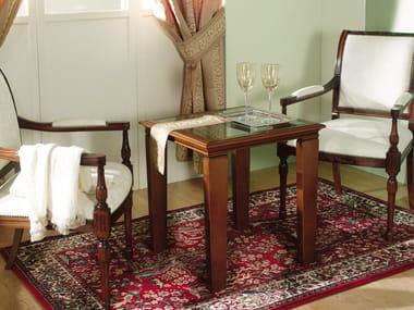 Square cherry wood bistro side table VENEZIA | Bistro side table