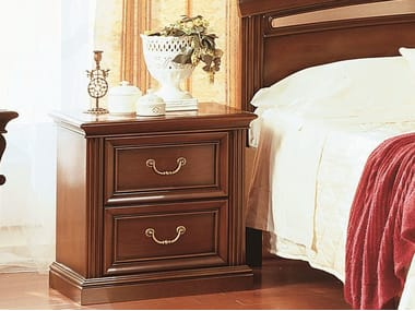 Cherry wood bedside table with drawers VENEZIA | Bedside table