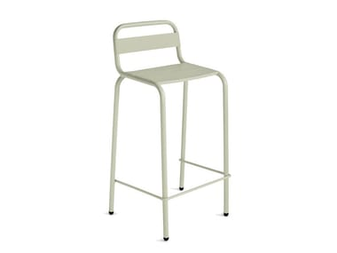 Aluminium garden stool with back BARCELONETA | Stool