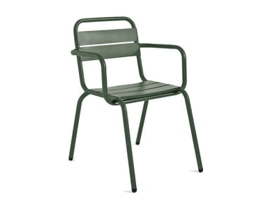 Garden chair with armrests BARCELONETA | Chair with armrests