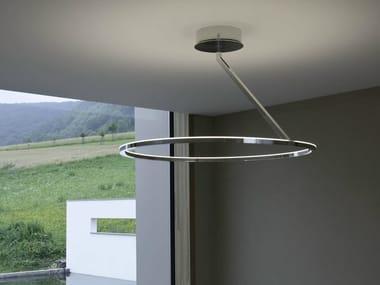 Lampada da soffitto a LED in alluminio CIRCOLO INSOSPESO   Lampada da soffitto