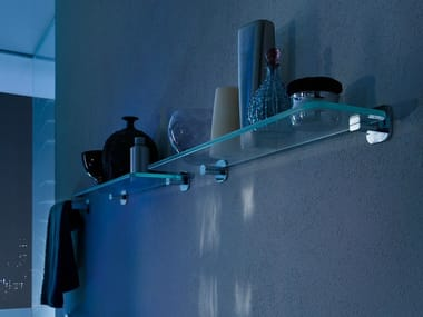 Glass bathroom wall shelf LOOP E | Bathroom wall shelf