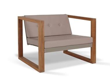 Batyline® garden armchair POLTRONA LOUNGE TEAK