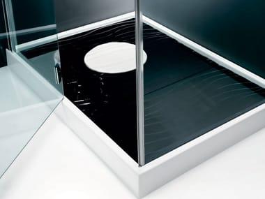 Piatto doccia incassato in ceramica WAVES | Piatto doccia