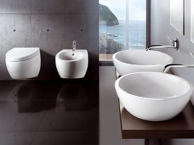 Ceramic bathroom furniture set OVAL