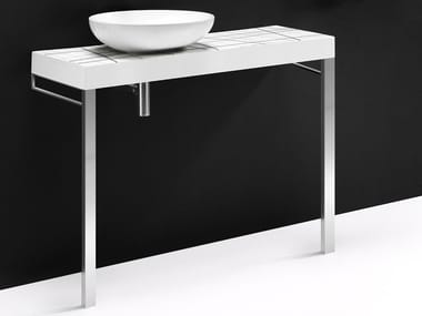 Single ceramic washbasin countertop FLOW CER