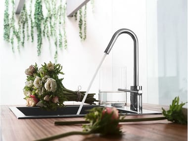 Chrome-plated 1 hole kitchen mixer tap PLUS | Kitchen mixer tap
