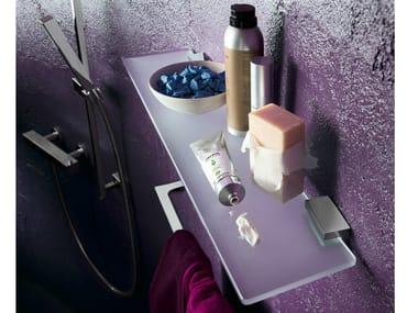 Mensola bagno in vetro acidato CUBE | Mensola bagno
