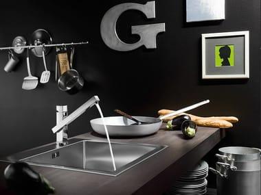 Miscelatore da cucina cromato con doccetta estraibile TOWER | Miscelatore da cucina con doccetta estraibile