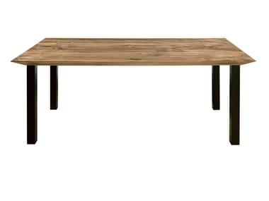 Rectangular wooden table ONDA