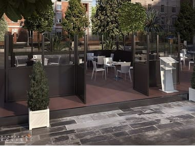 Aluminium Screen for dehor LIBECCIO