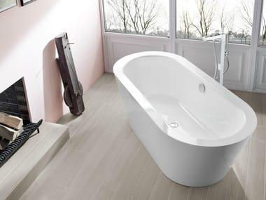 asymmetric enamelled steel bathtub bettestarlet v. Black Bedroom Furniture Sets. Home Design Ideas