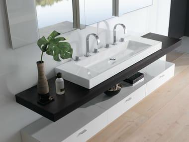 Lavabo da appoggio doppio rettangolare BETTEAQUA | Lavabo doppio