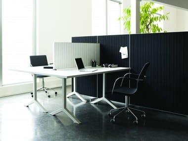 Sound absorbing workstation screen desktop partition ALUMI | Workstation screen desktop partition