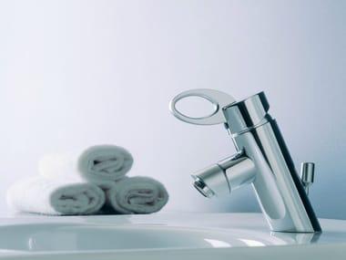 Chrome-plated chrome-plated countertop bidet mixer OZ | Washbasin mixer