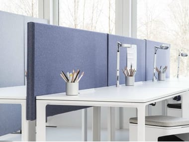 Sound absorbing workstation screen desktop partition SONEO | Workstation screen desktop partition