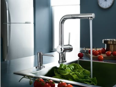 Chrome-plated 1 hole kitchen mixer tap with pull out spray OZ | Chrome-plated kitchen mixer tap