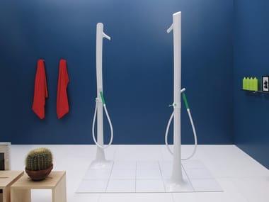 Colonna doccia da terra con doccetta ALBERO | Colonna doccia