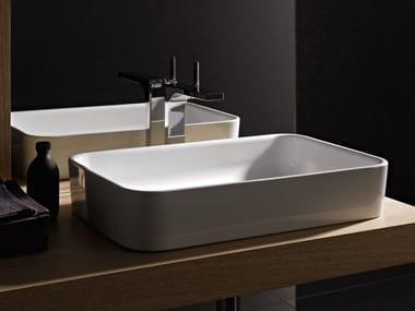 Countertop rectangular enamelled steel washbasin BETTEART | Countertop washbasin