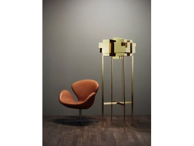 Brass floor lamp SKYLINE   Floor lamp