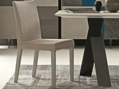 Upholstered fabric chair with removable cover FLEX