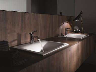 Vasque à encastrer rectangulaire en acier émaillé BETTELUX | Vasque à encastrer