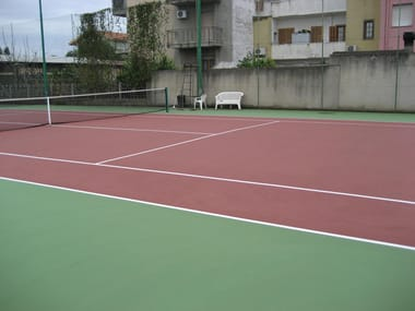 Synthetic material sports flooring FLOORGUM PAINT