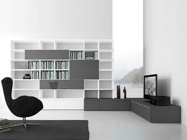 Open wall-mounted sectional bookcase Pari&Dispari - COMP 319