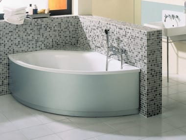 Corner enamelled steel bathtub BETTEPOOL III