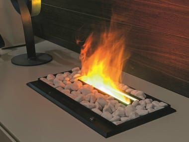 Electric built-in fireplace with remote control I-MODULART | Electric fireplace