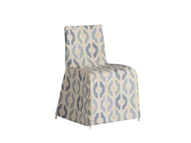 Fabric chair cover with graphic pattern RIMINI | Chair cover