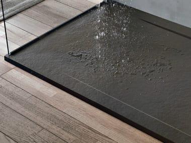 Anti-slip rectangular resin shower tray FORMA COVER