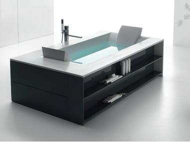 Vasca da bagno idromassaggio in Corian® SENSUAL 220