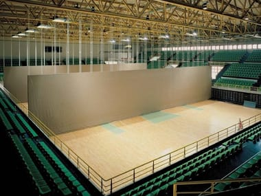Sliding vertical movable wall Automatic curtain partitions