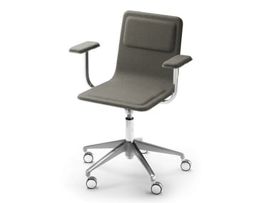 Task chair with 5-Spoke base with armrests LAIA | Task chair with armrests