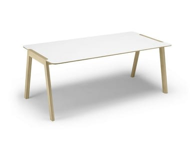 Rectangular laminate table HELDU | Laminate table