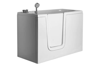 Rectangular fiberglass bathtub with door 650 | Rectangular bathtub