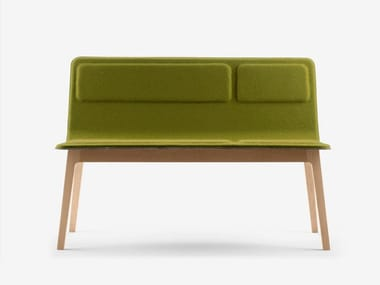 Fabric bench with back LAIA | Bench with back