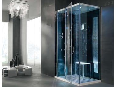 Cabina de ducha multifunción de cristal con baño de vapor TEMPO AD ANGOLO