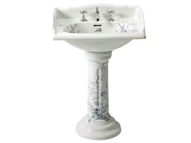 Pedestal porcelain washbasin VICTORIAN BLUE   Pedestal washbasin