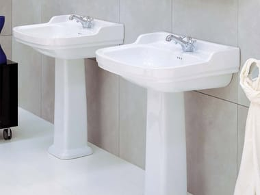 Pedestal ceramic washbasin EFI | Pedestal washbasin
