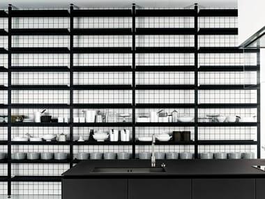 Floor-ceiling mounted shelving unit BROMPTON   Shelving unit