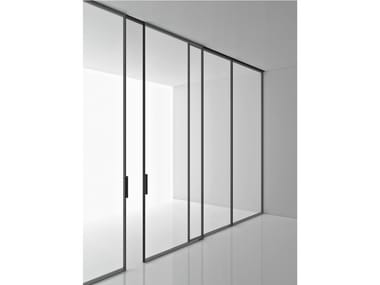 Tempered glass movable wall GREENE