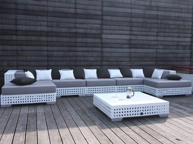 Sectional modular Sunbrella® sofa PORTO VECCHIO | Sectional sofa